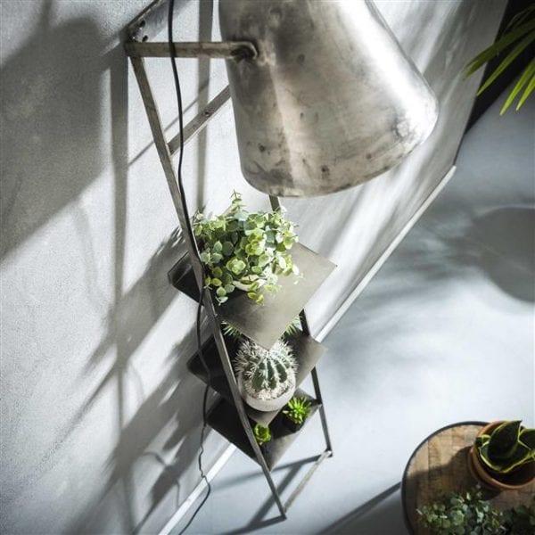 Wandschap lamp / Oud zilver. 8163/29 uit de vloerlampen collectie van Zijlstrakleinmeubelen & verlichting bij Löwik Meubelen
