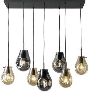 Charlie hanglamp XL 7-lichts combi gold+antraciet E27 Hanglamp XL 7-lichts Feelings Lowik Meubelen