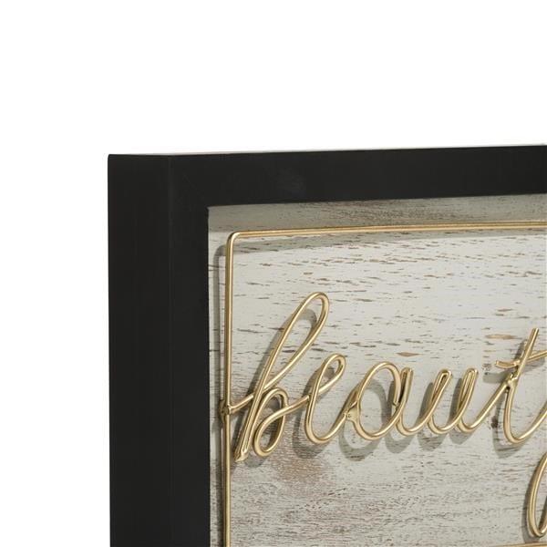 wanddeco Beautiful - 40 x 20 cm Coco Maison WALLDECO Lowik Wonen & Slapen