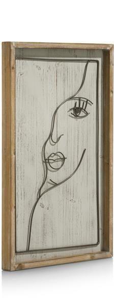 wanddeco Face - 40 x 60 cm Coco Maison WALLDECO Lowik Wonen & Slapen