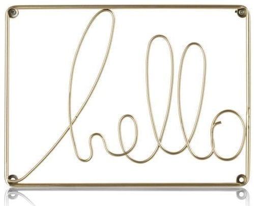 wanddeco Hello - 31 x 23 cm Coco Maison WALLDECO Lowik Wonen & Slapen