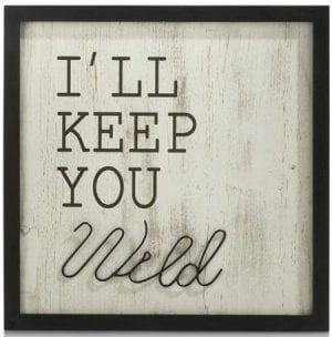 wanddeco Keep You Wild - 40 x 40 cm Coco Maison WALLDECO Lowik Wonen & Slapen