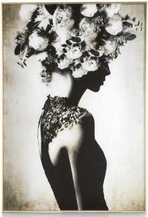 wanddecoratie Flower Crown - 70 x 100 cm - print op glas Coco Maison PAINTING Lowik Wonen & Slapen