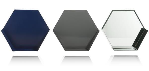 3 wandrekjes Hexa - multicolour Coco Maison WALLDECO Lowik Wonen & Slapen