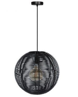 Black Jack hanglamp 40cm 1x E27 zwart - ETH verlichting - 05-HL4465-40-30