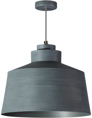 Grey hanglamp 1x E27 grijs - ETH verlichting - 05-HL4441-99