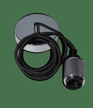 Piston snoerpendel 1,5 meter kabel 1x E27 chroom - ETH verlichting - 05-P9940-11