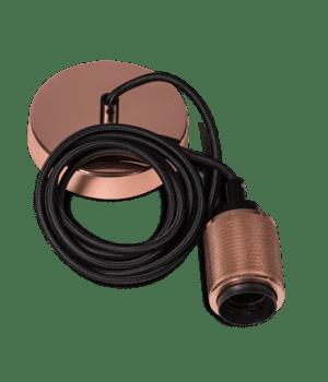 Piston snoerpendel 1,5 meter kabel 1x E27 koper - ETH verlichting - 05-P9940-05