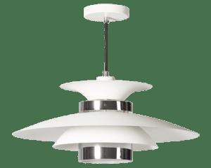 Potenza hanglamp 50cm 1x E27 wit/chroom - ETH verlichting - 05-HL4093-31