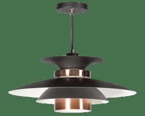 Potenza hanglamp 50cm 1x E27 zwart/koper - ETH verlichting - 05-HL4093-05