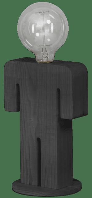 Adam Grey tafellamp man 24cm 1x E27 hout grijs - ETH verlichting - 05-TL3288-99