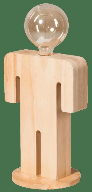 Adam XL tafellamp man 36cm 1x E27 hout - ETH verlichting - 05-TL3292-73