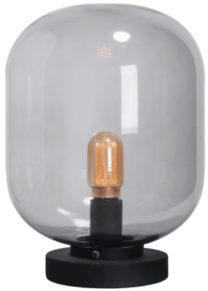 Benn Mini tafellamp 1x E27 zwart / gun metal glas - ETH verlichting - 05-TL3285-30