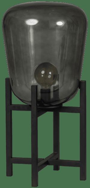 Benn Original TAFELLAMP 1x E27 zwart / gun metal glas D33 H70cm - ETH verlichting - 05-TL3273-30