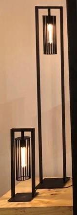 Birdy tafellamp 1x E27 zwart 160x160x500mm - ETH verlichting - 05-TL3185-30