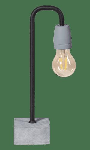 Concrete Bow tafellamp 1x E27 zwart/grijs - ETH verlichting - 05-TL3244-30