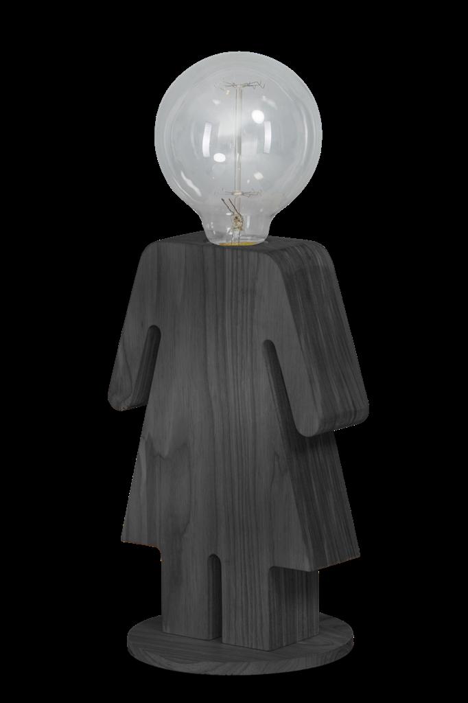 Eve Grey vrouw tafellamp - grijs
