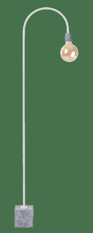 2 DOZEN !! Concrete Bow vloerlamp 1x E27 wit/grijs - ETH verlichting - 05-VL8175-31