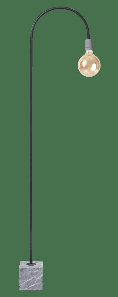 Concrete Bow vloerlamp 1x E27 zwart/grijs - ETH verlichting - 05-VL8175-30