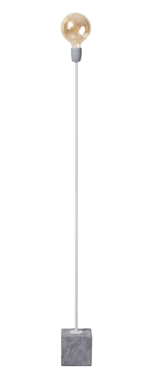 2 DOZEN !! Concrete Straight vloerlamp 1x E27 wit/grijs - ETH verlichting - 05-VL8176-31