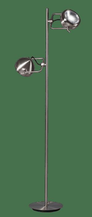 Head 2.0 vloerlamp 2x GU10 staal/chroom - ETH verlichting - 05-VL8286-17