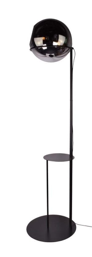 Orb vloerlamp 1x E27 smoke glas 40cm / zwart H203cm / tafel 30cm - ETH verlichting - 05-VL8365-3036