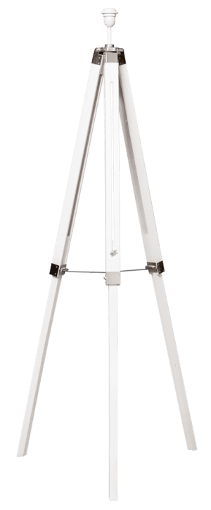 Pentone vloerlamp driepoot hout/metaal verstelb.E27 wash wit max hoog 157cm - ETH verlichting - 05-VL8150-31