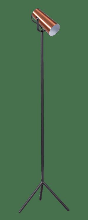 StandUp vloerlamp driepoot 1x E27 zwart/koper - ETH verlichting - 05-VL8114-05