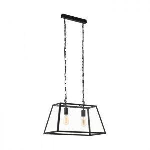 Amesbury 1 hanglamp uit de lampen collectie van Eglo, schitterende lamp vervaardigd van staal, zwart van kleur en passend bij vele interieurstijlen. De hanglamp is voorzien van een E27 fitting. Hanglamp Amesbury 1 wordt geleverd exclusief lichtbron(nen).