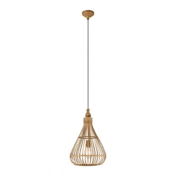 Amsfield hanglamp uit de lampen collectie van Eglo, schitterende lamp vervaardigd van staal, bruin van kleur en passend bij vele interieurstijlen. De hanglamp is voorzien van een E27 fitting. Hanglamp Amsfield wordt geleverd exclusief lichtbron(nen).
