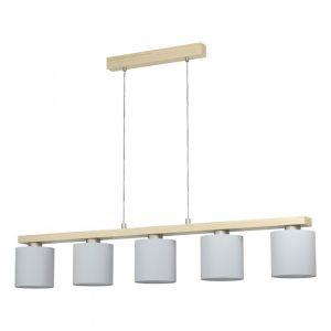Castralvo hanglamp uit de lampen collectie van Eglo, schitterende lamp vervaardigd van staal, hout, nikkel-mat, bruin van kleur en passend bij vele interieurstijlen. De hanglamp is voorzien van een E27 fitting. Hanglamp Castralvo wordt geleverd exclusief lichtbron(nen).