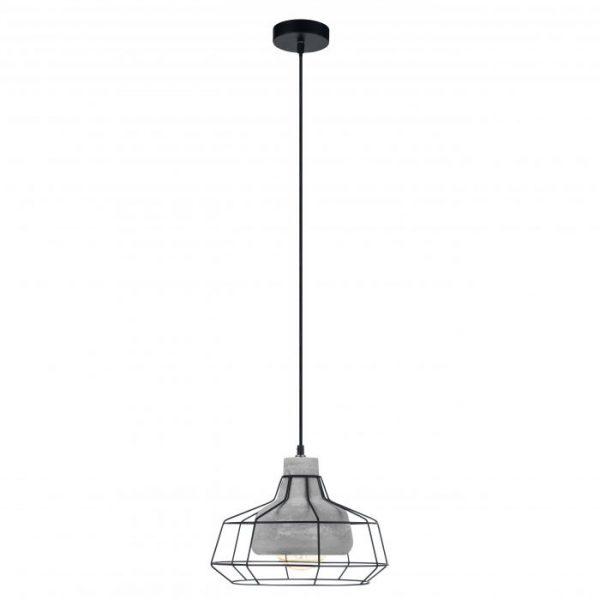 Consett hanglamp uit de hanglampen collectie van Eglo, verlichting voor een sfeervol thuis! Schitterende lamp vervaardigd uit metaal, zwart, grijs van kleur en passend bij vele interieurstijlen. De hanglamp is voorzien van een E27 fitting. Hanglamp Consett wordt geleverd exclusief lichtbron(nen).