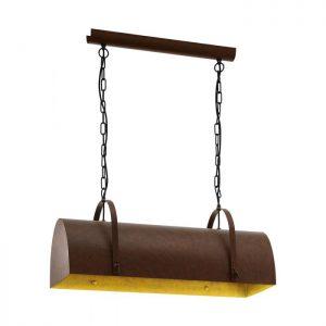 Deerhurst hanglamp uit de lampen collectie van Eglo, schitterende lamp vervaardigd van staal, bruin van kleur en passend bij vele interieurstijlen. De hanglamp is voorzien van een E27 fitting. Hanglamp Deerhurst wordt geleverd exclusief lichtbron(nen).