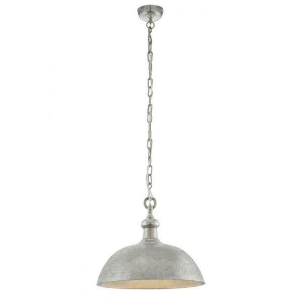 Easington hanglamp uit de lampen collectie van Eglo, schitterende lamp vervaardigd van staal, nikkel van kleur en passend bij vele interieurstijlen. De hanglamp is voorzien van een E27 fitting. Hanglamp Easington wordt geleverd exclusief lichtbron(nen).