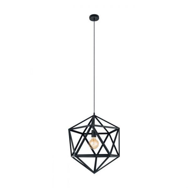 Embleton hanglamp uit de lampen collectie van Eglo, schitterende lamp vervaardigd van staal, zwart van kleur en passend bij vele interieurstijlen. De hanglamp is voorzien van een E27 fitting. Hanglamp Embleton wordt geleverd exclusief lichtbron(nen).