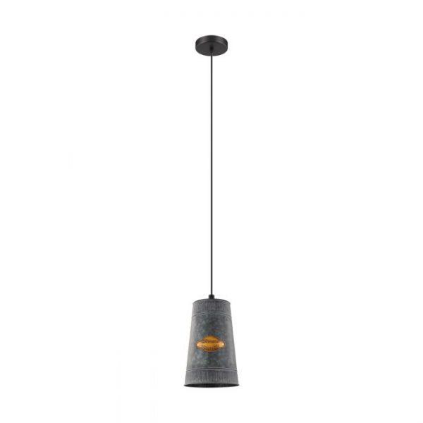 Honeybourne hanglamp uit de lampen collectie van Eglo, schitterende lamp vervaardigd van staal, zwart van kleur en passend bij vele interieurstijlen. De hanglamp is voorzien van een E27 fitting. Hanglamp Honeybourne wordt geleverd exclusief lichtbron(nen).