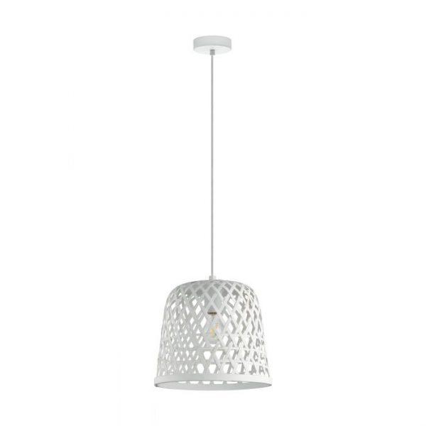 Kirkcolm hanglamp uit de lampen collectie van Eglo, schitterende lamp vervaardigd van staal, wit van kleur en passend bij vele interieurstijlen. De hanglamp is voorzien van een E27 fitting. Hanglamp Kirkcolm wordt geleverd exclusief lichtbron(nen).