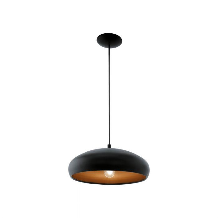 Mogano 1 hanglamp - zwart, koper
