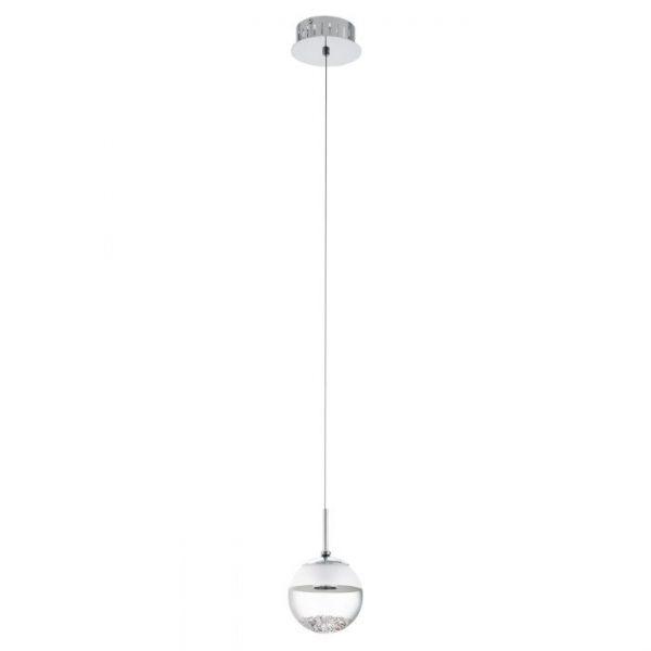 Montefio 1 hanglamp uit de lampen collectie van Eglo, schitterende lamp vervaardigd van staal, chroom van kleur en passend bij vele interieurstijlen. De hanglamp is voorzien van een LED fitting. Hanglamp Montefio 1 wordt geleverd inclusief lichtbron(nen).