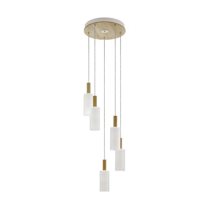 Oakham hanglamp - bruin, wit