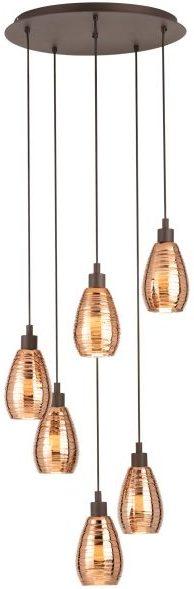 Siracusa hanglamp uit de lampen collectie van Eglo, schitterende lamp vervaardigd van staal, bruin van kleur en passend bij vele interieurstijlen. De hanglamp is voorzien van een E27 fitting. Hanglamp Siracusa wordt geleverd exclusief lichtbron(nen).