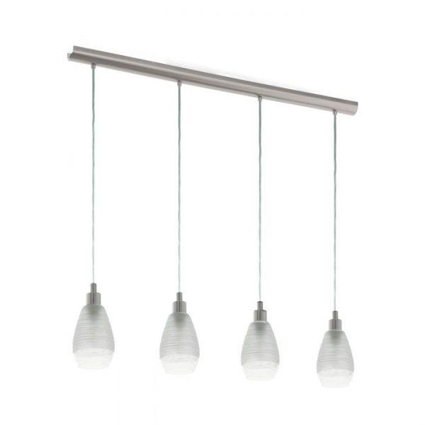 Siracusa hanglamp uit de lampen collectie van Eglo, schitterende lamp vervaardigd van staal, nikkel-mat van kleur en passend bij vele interieurstijlen. De hanglamp is voorzien van een E27 fitting. Hanglamp Siracusa wordt geleverd exclusief lichtbron(nen).