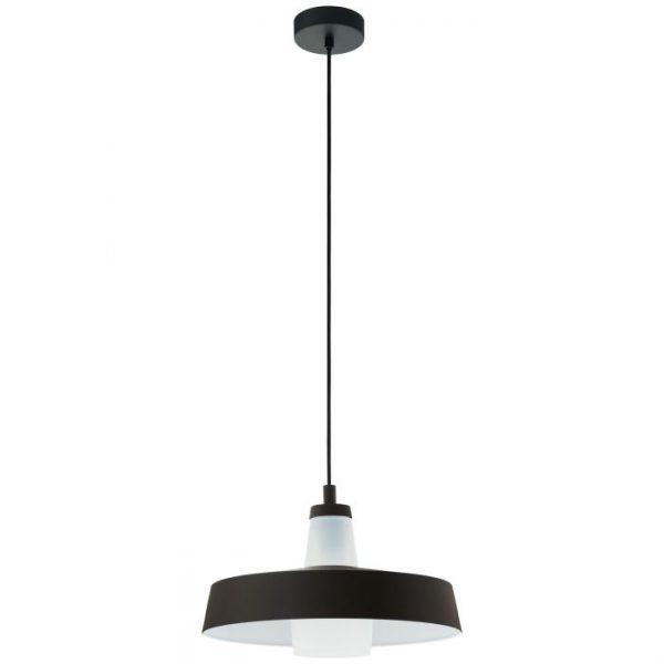 Tabanera hanglamp uit de lampen collectie van Eglo, schitterende lamp vervaardigd van staal, zwart, wit van kleur en passend bij vele interieurstijlen. De hanglamp is voorzien van een E27 fitting. Hanglamp Tabanera wordt geleverd exclusief lichtbron(nen).