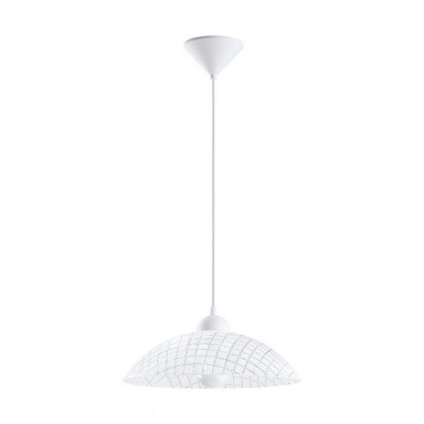 Vetro hanglamp uit de lampen collectie van Eglo, schitterende lamp vervaardigd van Kunststof, wit van kleur en passend bij vele interieurstijlen. De hanglamp is voorzien van een E27 fitting. Hanglamp Vetro wordt geleverd exclusief lichtbron(nen).