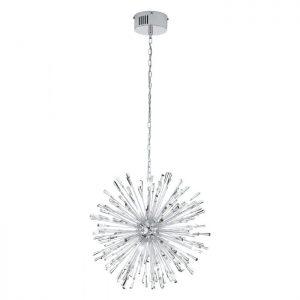 Vivaldo 1 hanglamp uit de lampen collectie van Eglo, schitterende lamp vervaardigd van staal, chroom van kleur en passend bij vele interieurstijlen. De hanglamp is voorzien van een G4-LED fitting. Hanglamp Vivaldo 1 wordt geleverd inclusief lichtbron(nen).