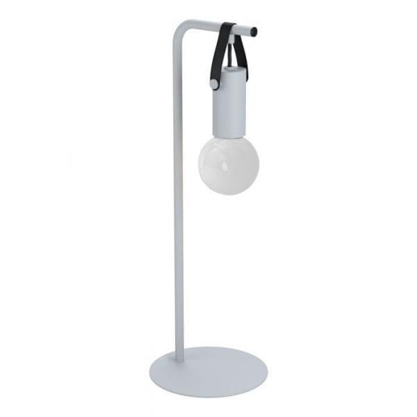 Apricale Tafellampen uit de lampen collectie van Eglo, schitterende lamp vervaardigd van staal, leer, grey, black van kleur en passend bij vele interieurstijlen. De Tafellampen is voorzien van een E27 fitting. Tafellampen Apricale wordt geleverd exclusief lichtbron(nen).