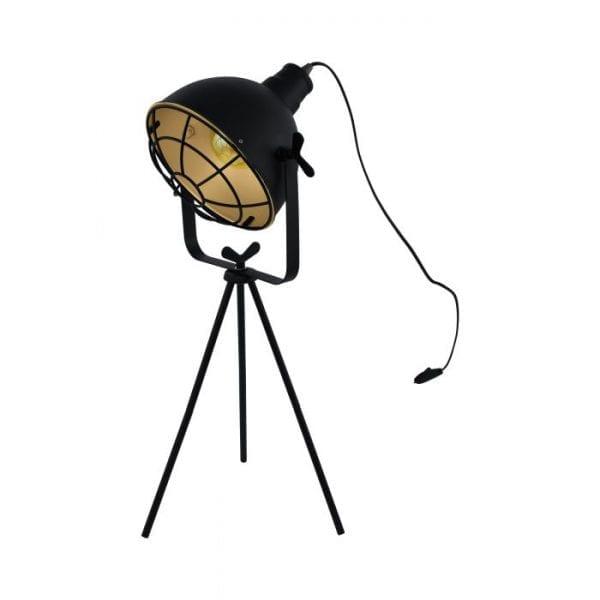 Cannington Tafellampen uit de lampen collectie van Eglo, schitterende lamp vervaardigd van staal, zwart, goud van kleur en passend bij vele interieurstijlen. De Tafellampen is voorzien van een E27 fitting. Tafellampen Cannington wordt geleverd exclusief lichtbron(nen).