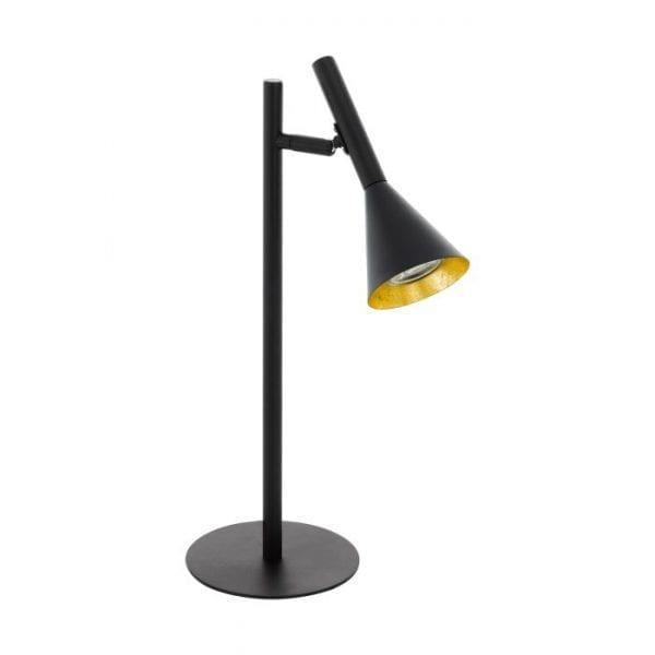 Cortaderas Tafellampen uit de lampen collectie van Eglo, schitterende lamp vervaardigd van staal, zwart, goud van kleur en passend bij vele interieurstijlen. De Tafellampen is voorzien van een GU10-LED fitting. Tafellampen Cortaderas wordt geleverd inclusief lichtbron(nen).