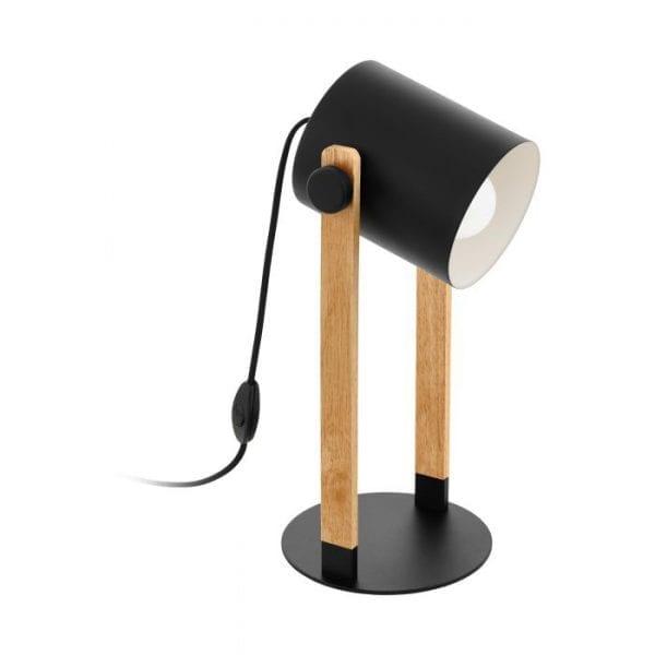 Hornwood Tafellampen uit de lampen collectie van Eglo, schitterende lamp vervaardigd van staal, zwart, crème van kleur en passend bij vele interieurstijlen. De Tafellampen is voorzien van een E27 fitting. Tafellampen Hornwood wordt geleverd exclusief lichtbron(nen).