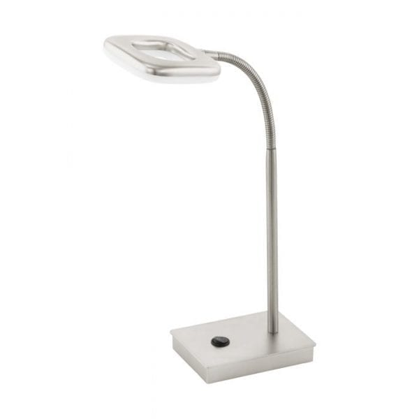 Litago Tafellampen uit de lampen collectie van Eglo, schitterende lamp vervaardigd van kunststof, staal, nikkel-mat van kleur en passend bij vele interieurstijlen. De Tafellampen is voorzien van een LED fitting. Tafellampen Litago wordt geleverd inclusief lichtbron(nen).